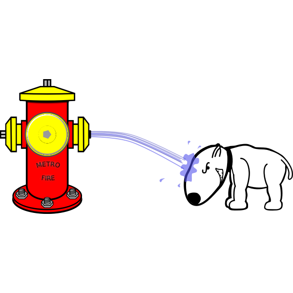 Hydrant And Dog Free Svg