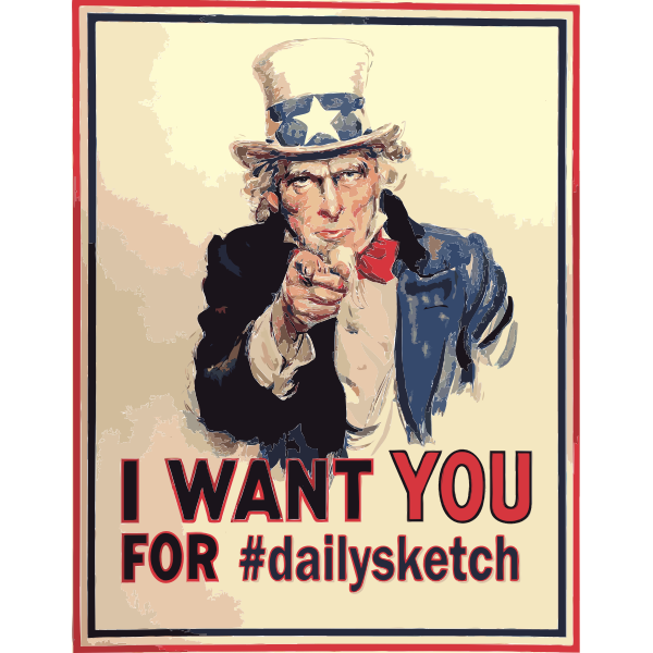 Uncle Sam on a poster
