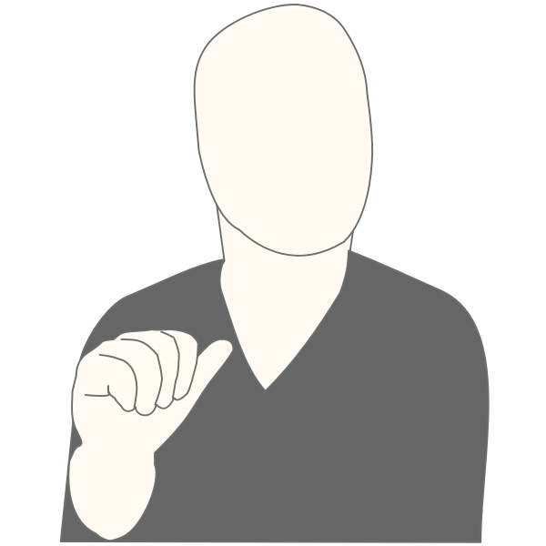 Vector graphics of faceless man pointing at himself