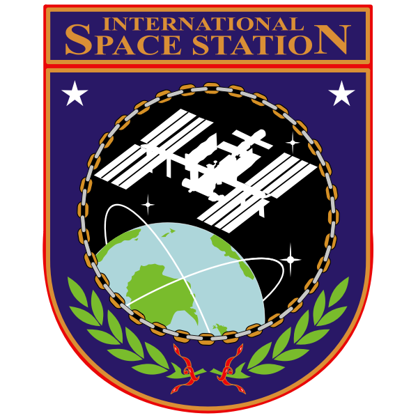 Vector drawing of ISS insignia