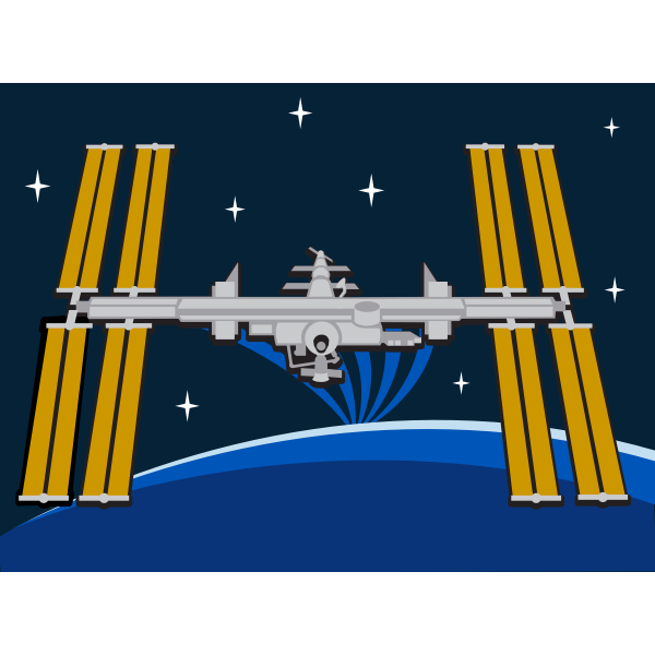 ISS Station in space