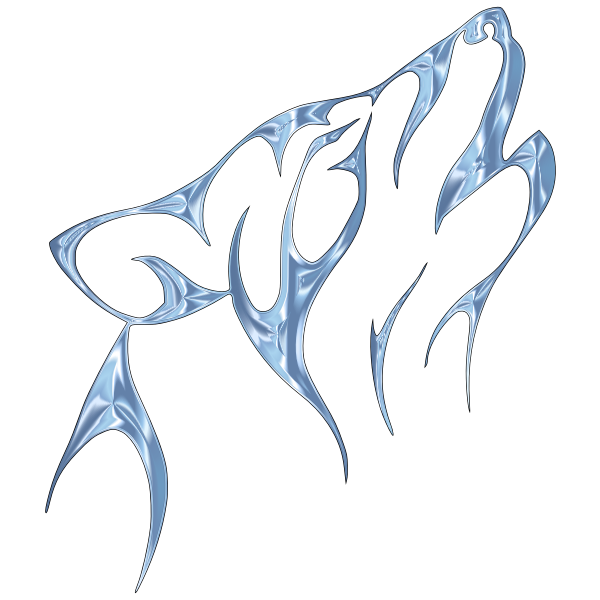 Ice Tribal Wolf No Background