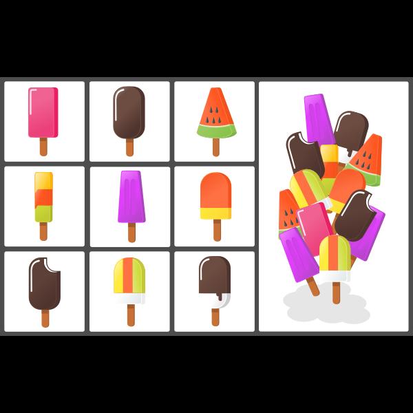 Different ice creams set