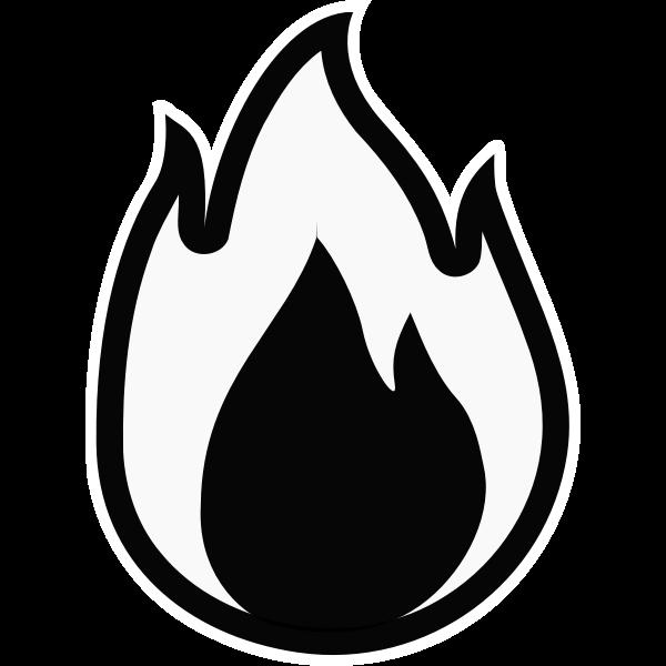 Fire - Monochrome