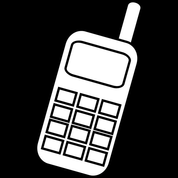 Mobile phone icon vector clip art