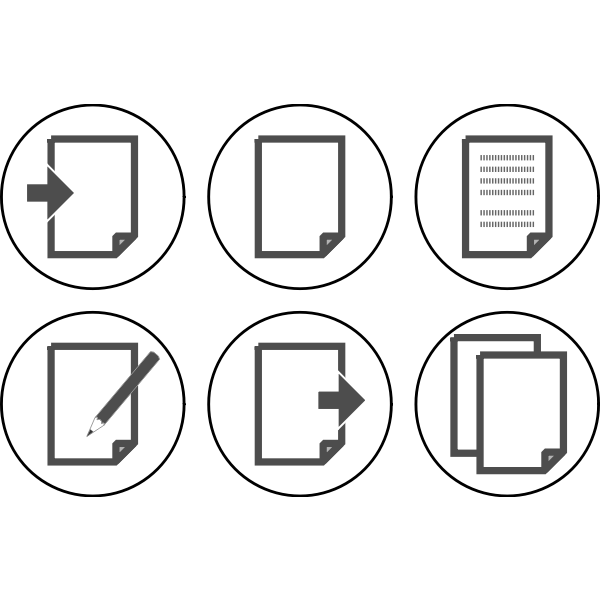 Vector graphics of set of computer OS icon