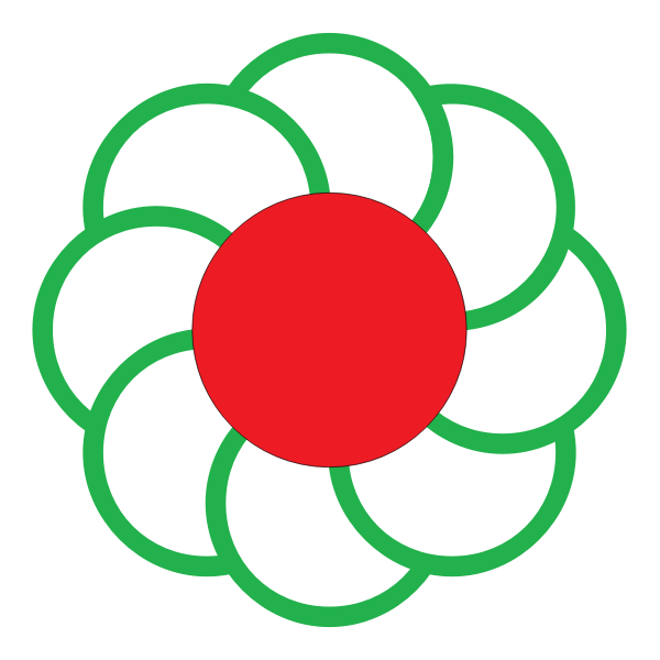 Vector illustration of flower from Ikutahara municipality