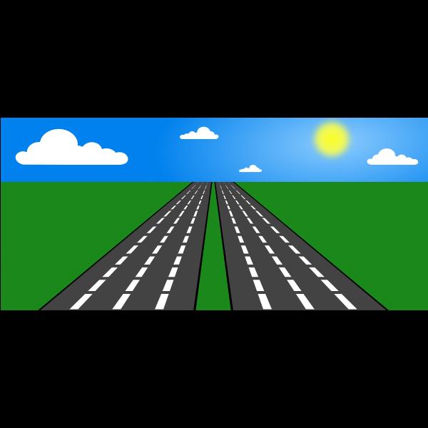 Vector illustration of open road