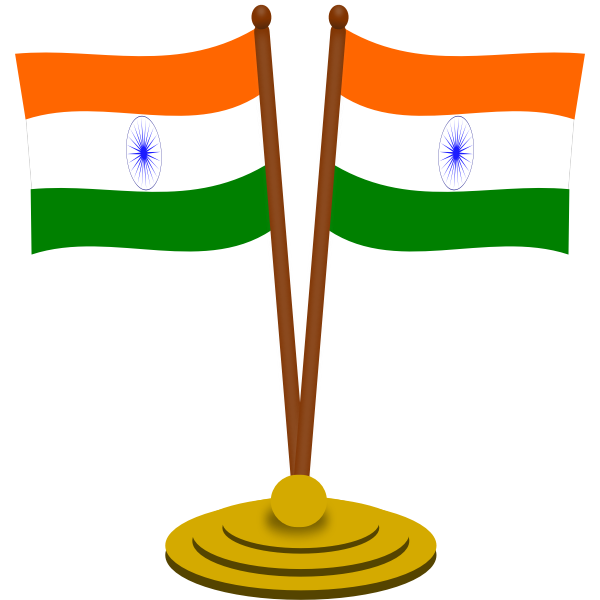 Indian flags vector