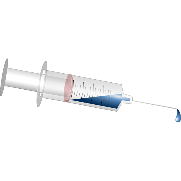 Medical injection vector image
