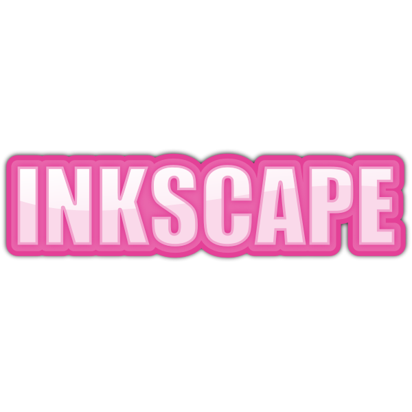 word Inkscape pink