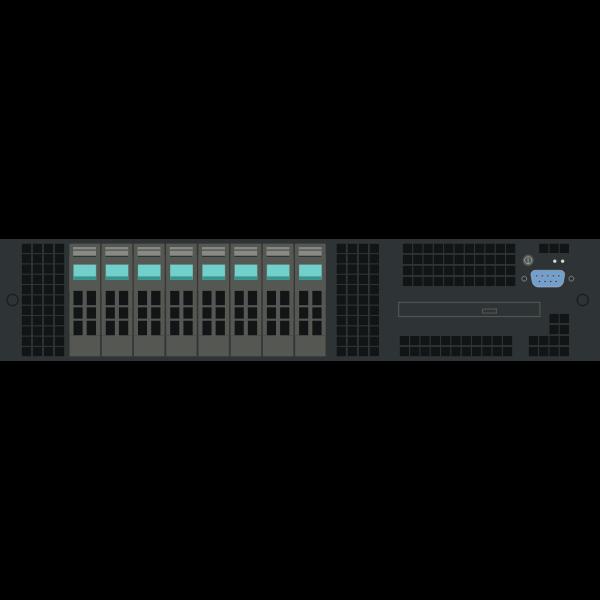 Intel 2U rack server vector clip art