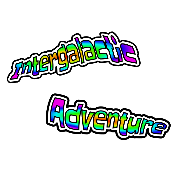 Intergalactic adventure logo