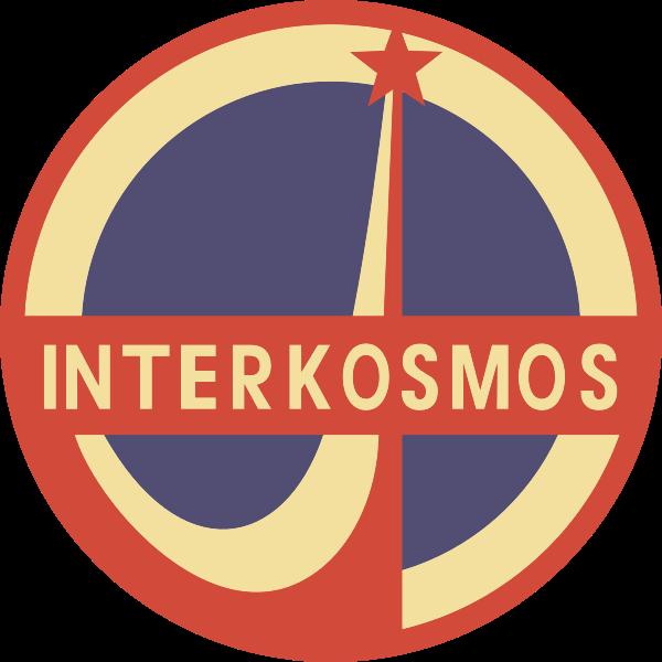 Interkosmos vector image