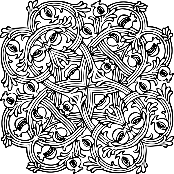 Interlocking design illustration