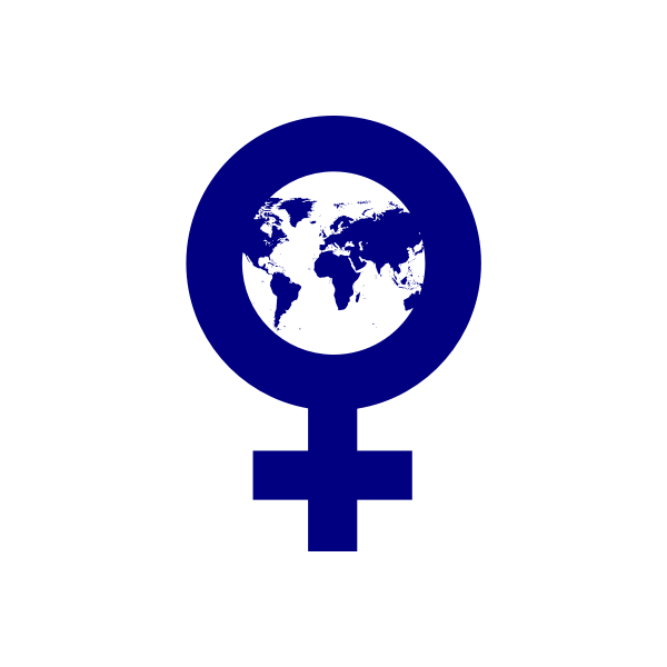 Vector clip art of females of the Earth sign