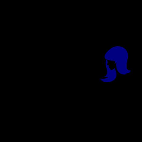 International Womans Day logo idea vector clip art