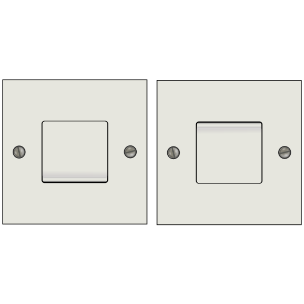 On and off light switches illustration
