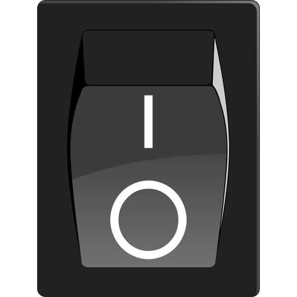 Color drawing of power button icon