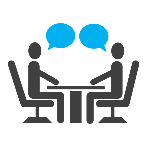 Interview with tux symbol vector image