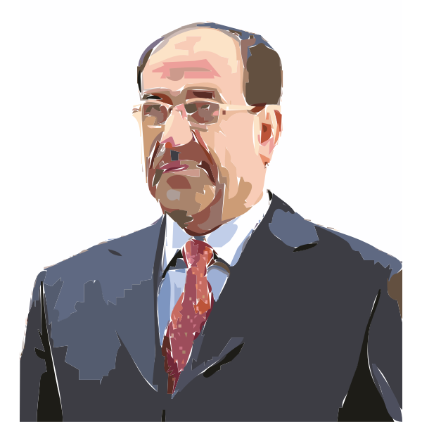 Iraqi Prime Minister Nouri al Maliki Painted