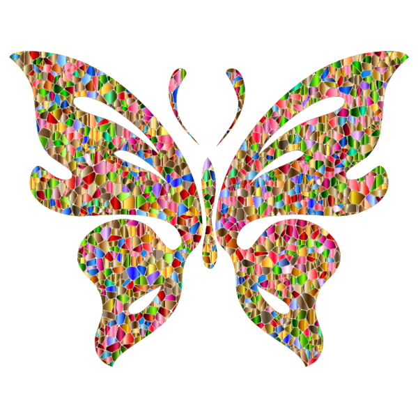 Iridescent Chromatic Butterfly 2 No Background