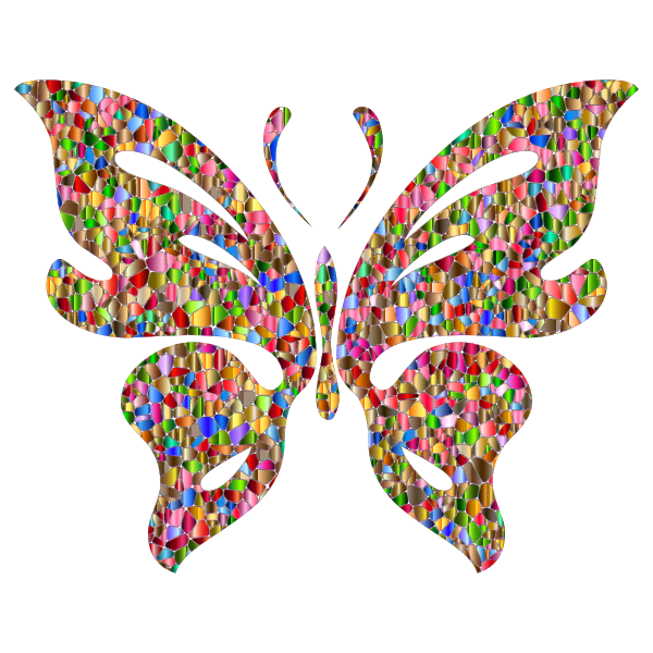 Iridescent Chromatic Butterfly 3 No Background