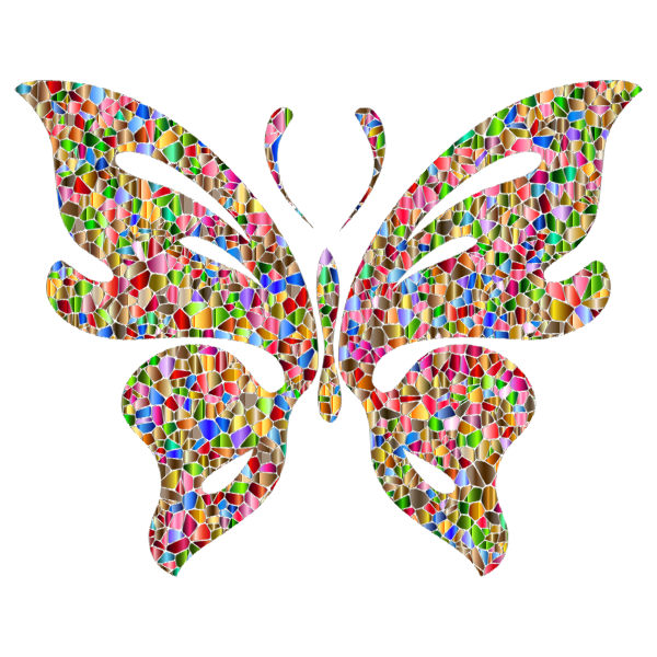 Iridescent Chromatic Butterfly 4 No Background