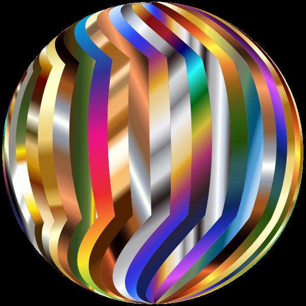Irregular Colorful Sphere