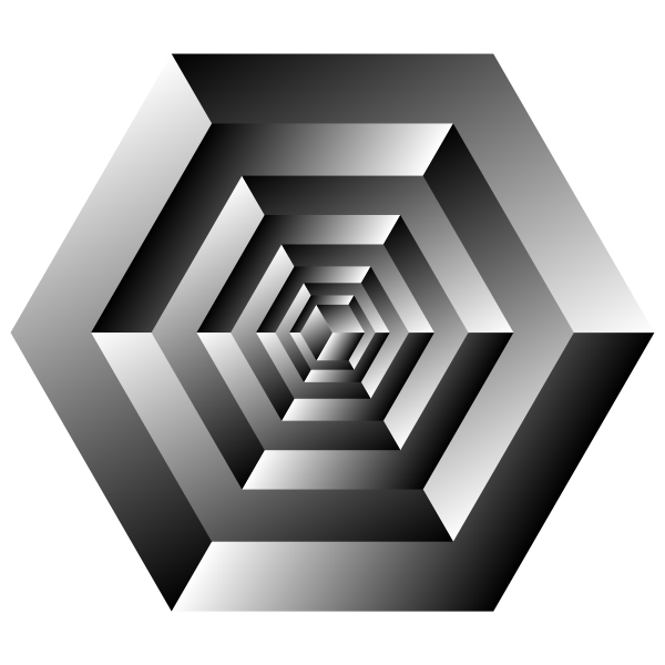 Drawing of rotating cube optical illusion