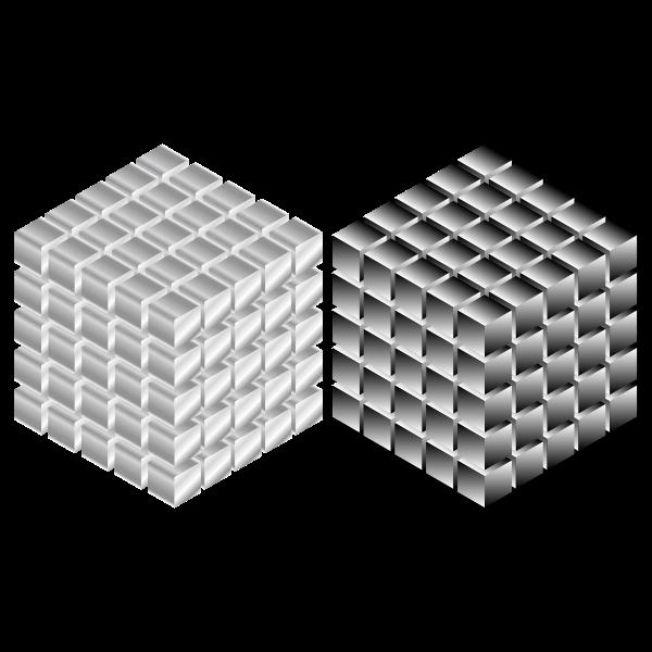 Metallic cubes vector image