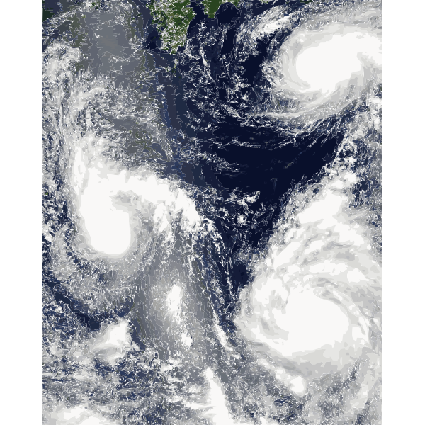 Typhoon radar vector image