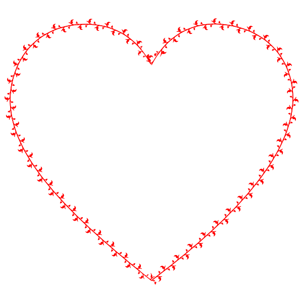 Image of a red heart for Valentine