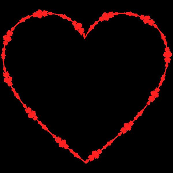Vector clip art of decorative heart shape