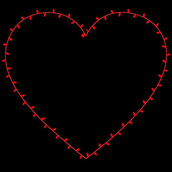 Ivy heart vector illustration