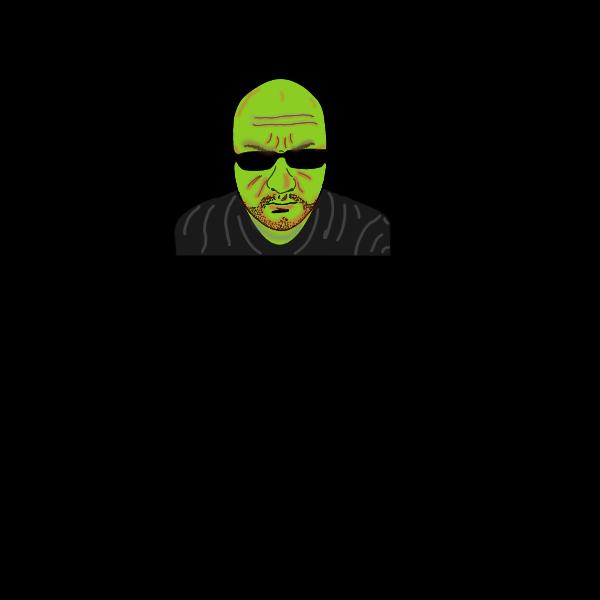 Bald man selfie vector image