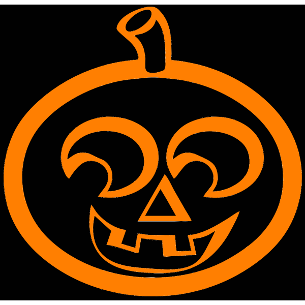 Laughing Halloween pumpkin on black background vector illustration
