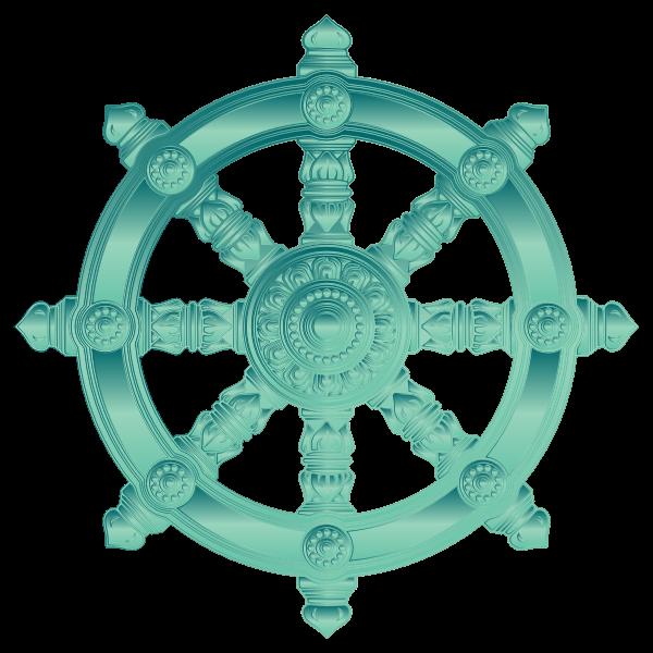 Jade Ornate Dharma Wheel