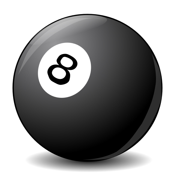 Vector clip art image of pool ball 8