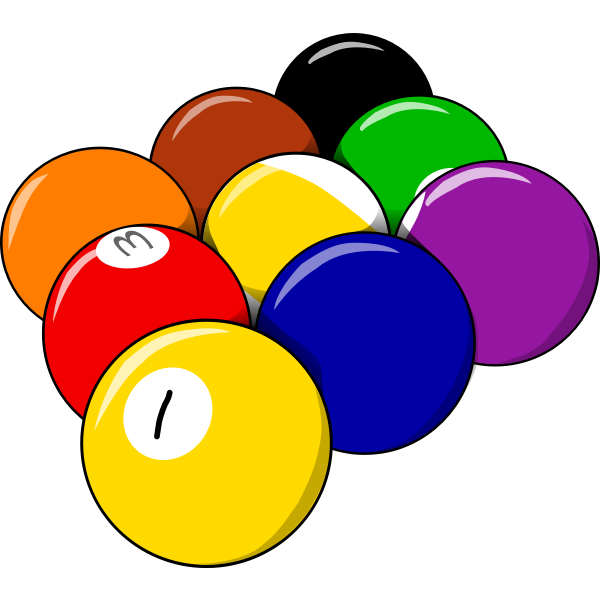 Vector illustration of pool balls