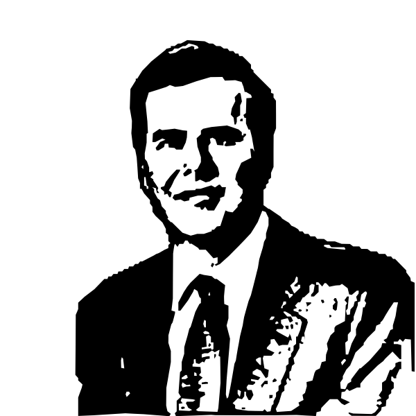 Vector illustration of Jeb Bush photocopy image