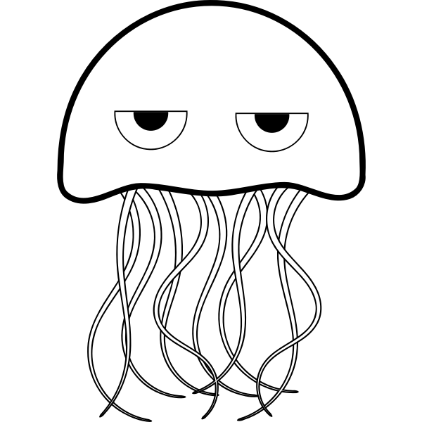 Jellyfish vector drawing