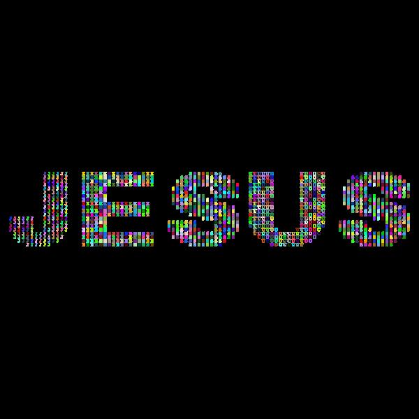 Jesus Fractal Typography Prismatic