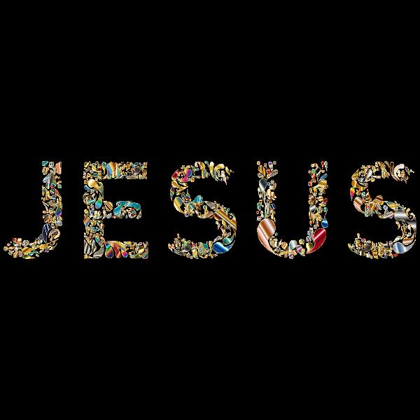 Jesus Typography No Background