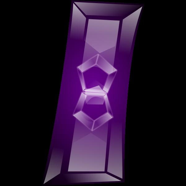 Rectangle shape purple jewel vector drawing