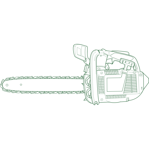 Chain saw vector image