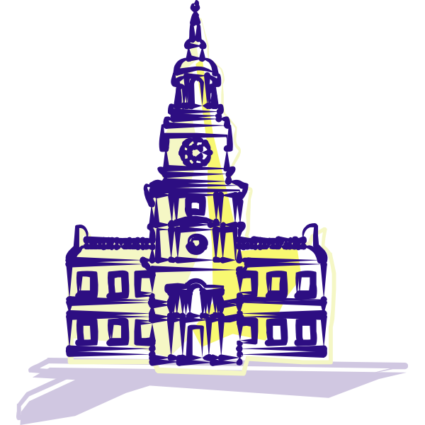 Independence Hall vector art