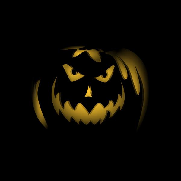 Jack-O-Lantern in the dark vector image