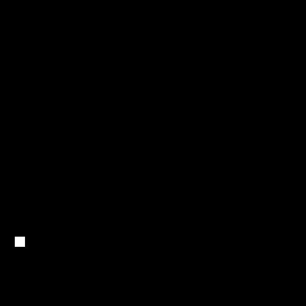Scissors in hand vector image