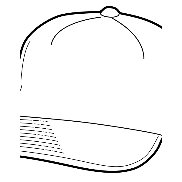 Baseball cap vector clip art